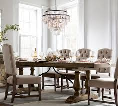 pottery barn dining room tables lorraine extending dining table hewn oak pottery barn