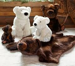 polar bear faux fur plush collection pottery barn kids