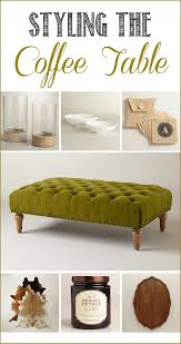 create a coffee table vignette discover