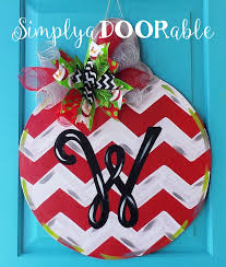 christmas ornament wood door hanger by simplyadoorable
