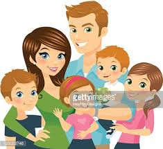 illustration of a loving family vector getty images