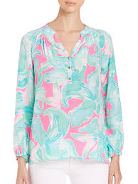 Swell Lilly Pulitzer by Lilly Pulitzer Elsa Silk Top Lyst