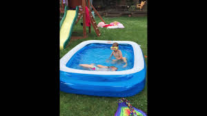 Backyard Blow Up Pools by Hudson Valley Heat Requires Blowup Pool In The Backyard Youtube