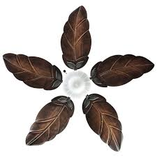 Ceiling Fan With Palm Leaf Blades by Ceiling Fans With Leaf Shaped Blades Ceiling Fan Blades Covers