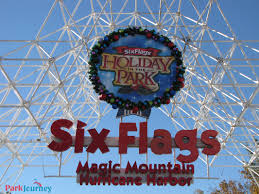 Magic Mountain Map Magic Mountain Holiday In The Park Preview