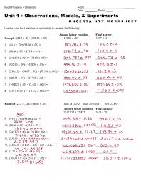 Calculations Significant Figures Worksheet Answers Collection Of Sig Fig Worksheet With Answers Cockpito