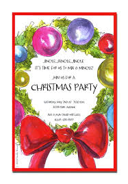 colorful ballons christmas party invitations ideas and blue fonts