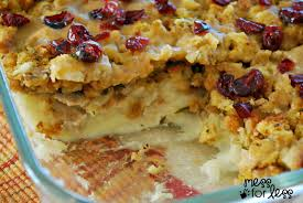 thanksgiving dinner casserole mess for less