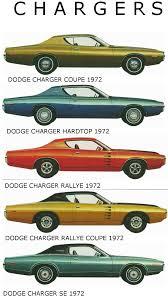 dodge charger u0027s 1972 model lineup car side views pinterest