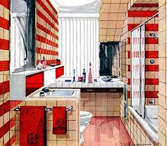 S Home Decor  Decorating Ideas Red Wall Tiles And - Fifties home decor