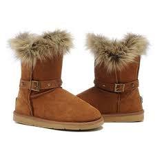 womens ugg boots black friday sale ugg boots black friday fox fur buckled 5558 chestnut for