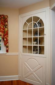Corner Cabinet In Kitchen Another Built In Corner Cabinet With An Arched Window And More