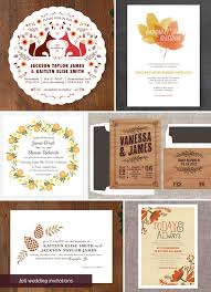 autumn wedding invitations fall autumn wedding invitation ideas