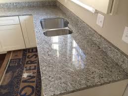 modern kitchen mats flooring grey azul platino granite counter top also double sink