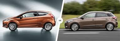 ford fiesta vs hyundai i20 comparison carwow