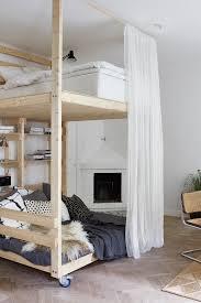 diy loft bed with lounge space underneath it u0027s on wheels so