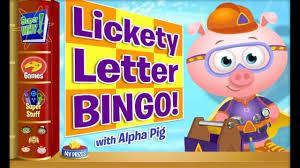 super why game video for kids alpha pig bingo abc alphabet