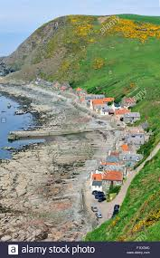 Narrow Picture Ledge Crovie A Small Village On A Narrow Ledge Along The Sea Comprising