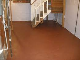 Painted Concrete Basement Floor by Basement Waterproofing Paint Drylok