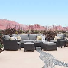 Portofino Patio Furniture Amazon Com Rst Brands Deco 8 Piece Sofa And Club Chair Deep