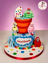 yo gabba gabba birthday cake3d cards 40 best cakes based on kids tv characters images on