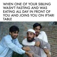 Fasting Meme - when one of your sibling wasn t fasting and was eating all day in