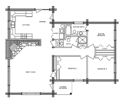 1 Room Cabin Floor Plans by 6 Bedroom Log Home Plans