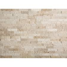 Carrelage Imitation Brique by Plaquette De Parement Nora Travertin En Pierre Naturelle Beige