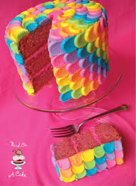 bird on a cake rainbow petal cake virtual baby shower