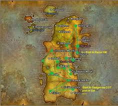 kalimdor map fastest route for the tricks and treats achieve