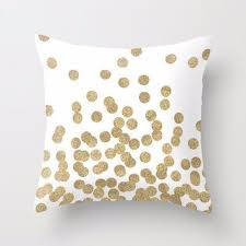 gold glitter dots square throw pillow case soft cushion cover home