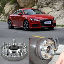 audi a4 wheel spacers shop 4pcs billet 5 lug 14 1 5 studs wheel spacers