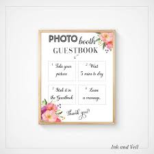 wedding guest book sign photo booth guestbook sign wedding guest book photo sign wedding