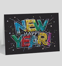 new year new address cards happy new years cards the gallery collection