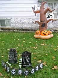 halloween yard ideas decorations inflatables and spookies with