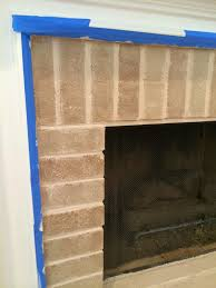 Painting A Wall To Look Like Brick The Smitten Mintons How To Paint A Brick Fireplace