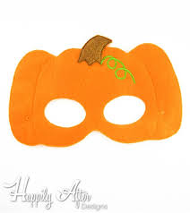 pumpkin mask ith mask embroidery design
