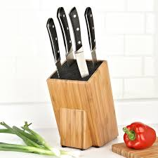 kapoosh basic universal knife block bamboo kitchen stuff plus