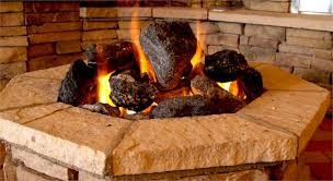 Fire Pit With Lava Rocks - volcanic feather rock for gas fire pits