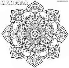 Stunning Design Mandala Coloring Pages Flower To Download And Mandala Flowers Coloring Pages