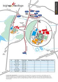 Map Walking Distance Plan Your Visit U2013 Leigh Sports Village