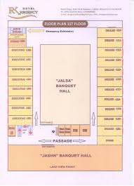 Banquet Hall Floor Plan by Hotel Rk Regency