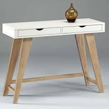Schreibtisch Holz Schubladen Design Schreibtisch Konsole Aron Weiss Natur 2 Schubladen 101cm