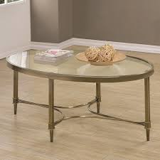 cocktail tables and end tables oval coffee table with glass top coaster 703508