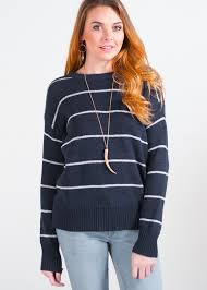 bb dakota bb dakota navy stripped sweater on sale in pocket