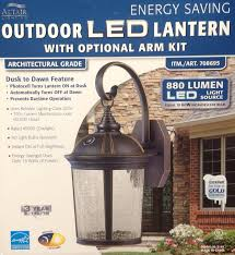 costco led can lights altair lantern lighting led outdoor lantern with optional arm kit