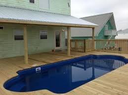 homes on pilings american fiberglass pools are perfect for beach homes