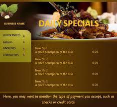 menu card templates menu card template graphics and templates