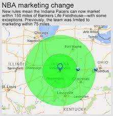 Nba Map Nba Rule Change Quadruples Pacers U0027 Advertising Reach 2016 03 02