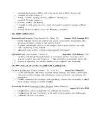 resume template for students 2 year resume template